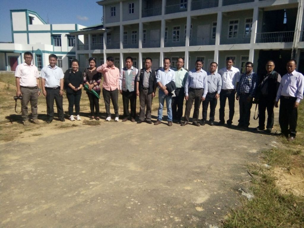 College inspection team (MZU) at GKNC, with college faculties. Dt 10.11.2017